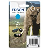 Epson Elephant 24 (non-Tagged) Ink Cartridge (Cyan) for Epson Expression Photo: XP-750 / XP-850