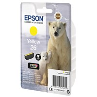 Epson Polar Bear 26 (Yield 300 Pages) Claria Premium Ink Cartridge (Yellow)