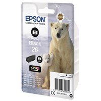Epson Polar Bear 26 (Yield 200 Pages) Claria Premium Ink Cartridge (Photo Black)