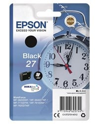 Epson Alarm Clock 27 (Yield: 350 Pages) Black DURABrite Ink Cartridge