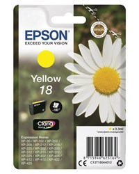 Epson Daisy 18 (Yield 180 Pages) Claria Home Ink Cartridge (Yellow)