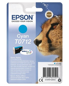 Epson T0712 (Yield 475 pages) Cyan Ink Cartridge