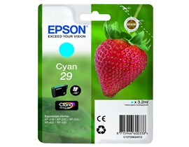Epson Strawberry 29 T2982 (Yield 180 pages) Claria Home Cyan 3.2ml Ink Cartridge (Blister Pack)