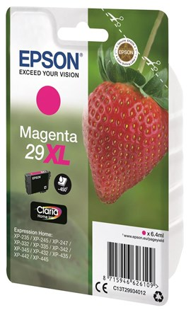 Epson Strawberry 29XL (Yield 450 Pages) Claria Home Ink Cartridge (Magenta)