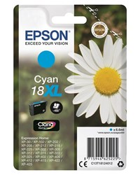 Epson Daisy 18XL (Yield 450 Pages) Claria Home Ink Cartridge (Cyan)