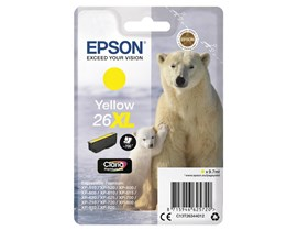 Epson Polar Bear 26XL (Yield 700 Pages) Claria Premium Ink Cartridge (Yellow)