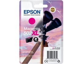 Epson 502 XL Series (Yield: 470 Pages) Magenta Ink Cartridge (6.4ml) for WorkForce WF-2860DWF/Expression Home XP-5105