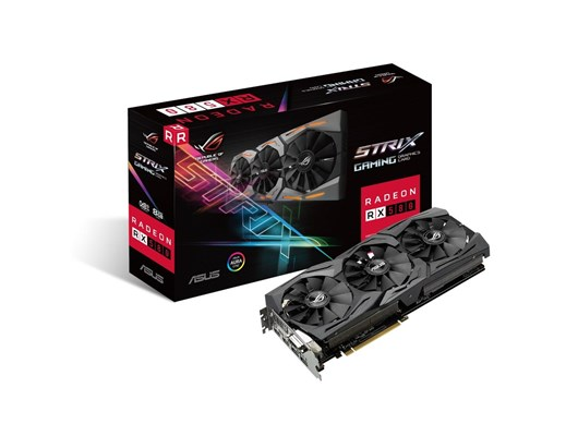 Asus ROG Strix Radeon RX 580 (8GB) Graphics Card PCI-E (2 x HDMI/2 x DisplayPort)/DVI-D *Open Box*