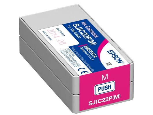 Epson SJIC22P(M) 32.5ml Magenta Ink Cartridge for TM-C3500 Printer