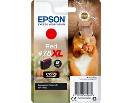 Epson Squirrel 478XL (10.2ml) Claria Premium Red Ink Cartridge