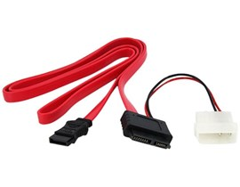 StarTech.com Slimline SATA Female to SATA with LP4 Power Cable Adaptor (0.9m)