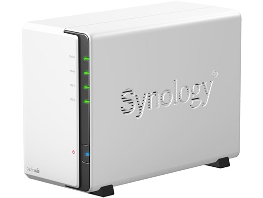 Bundle: Synology DiskStation DS213air (0TB) 2-Bay Desktop NAS Server with Built in Wi-Fi and 8TB (2 x 4TB) WD RED Hard Drives