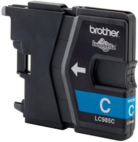 Brother LC985C (Yield: 260 Pages) Cyan Ink Cartridge