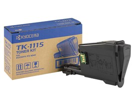 Kyocera TK-1115 Black Toner-Kit for FS-1041, FS-1220MFP, FS-1320MFP (Yield 1600 Pages)