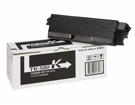 Kyocera TK-580K (Yield: 3,500 Pages) Black Toner Cartridge