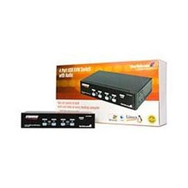 StarTech.com USB KVM Switch With Audio - KVM / audio / USB switch - USB - 4 ports - 1 local user - 1U
