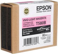 Epson T580B High Capacity Ink Cartridge - 80 ml (Vivid Light Magenta)