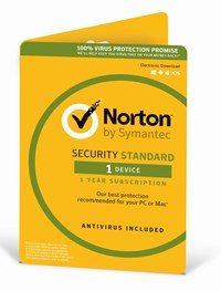 Norton Security Standard (3.0) 1 User (1 Device) 12 Months Security Software (DVD Pack)
