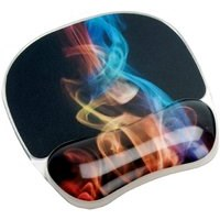 Fellowes Photo Gel Mouse Pad Wrist Support (Rainbow Smoke)