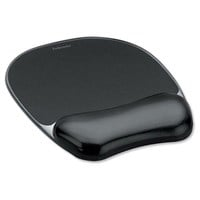 Fellowes Crystal Gel Mouse Pad with Wrist Rest (Black)
