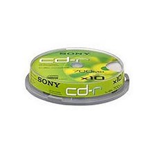 Sony CD-R 700MB 80min 48x Spindle 10 Pack