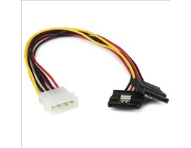 StarTech.com 12 inch LP4 to 2x Latching SATA Power Y Cable Splitter Adaptor 4 Pin Molex to Dual SATA