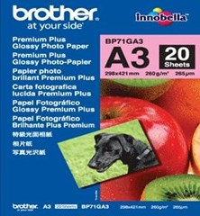 Brother BP71GA4 (A4) 260g/m2 Premium Plus Glossy Photo Paper (20 Sheets)