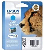Epson T0712 Genuine Ink Cartridge - Cyan