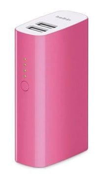 Belkin MIXIT Portable Battery Power Pack 4000 with 6 inch Micro USB Cable (Pink)