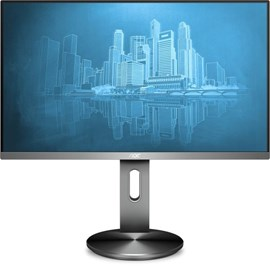 AOC I2490PXQU (24 inch) LED Monitor 1000:1 1920x1080 4ms DisplayPort HDMI VGA (Silver/Black)