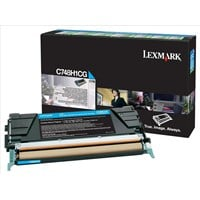 Lexmark Return Program (High Yield: 10,000 Pages) Cyan Toner Cartridge for C748 Printers