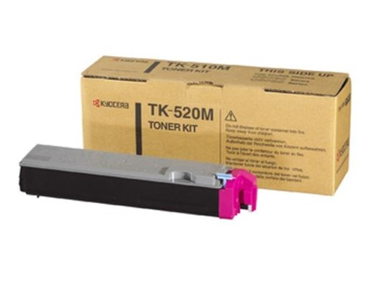 Kyocera TK-520M Magenta (Yield 4000 Pages) Toner Cartridge for FS-C5025N/5015N Printers