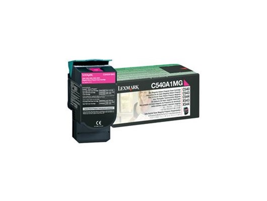 Lexmark Return Program (Yield: 1,000 Pages) Magenta Toner Cartridge for C540n/C543dn/C544dn/C544dtn/C544dw/C544n Colour Laser Printers