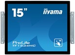 Iiyama ProLite TF1534MC (15 inch Multi-touch) LED Backlit LCD Monitor 1000:1 350cd/m2 (1024x768) 5ms VGA/DVI/USB (Black)