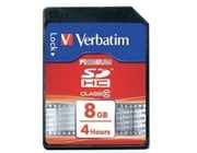 Verbatim SecureDigital SDHC Class10 8GB