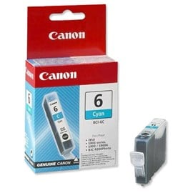 Canon BCI-6C (Yield: 440 Pages) Cyan Ink Cartridge