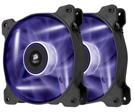 Corsair Air Series SP120 High Static Pressure Fan (120mm) with Purple LED (Twin Pack)