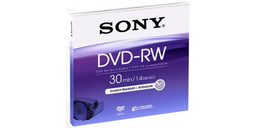 Sony DVD-RW 8cm 1.4GB 30 min Storage Media