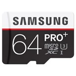 Samsung PRO+ MB-MD64DA (64GB) MicroSDXC Class 10 UHS-I Memory Card with SD Adapter