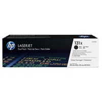 HP 131X (Yield: 2,400 Pages) High Yield Black Toner Cartridge Pack of 2