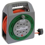 SMJ Electrical (20 m) 4 socket 10A Orange Cable (Grey/Green)