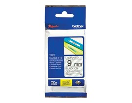 Brother P-touch TZe-121 (9mm x 8m) Black On Clear Laminated Labelling Tape
