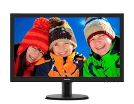 "Philips 243V5LHSB 23.6"" Full HD LED Monitor"