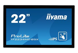 iiyama ProLite (22 inch Multi-touch) LED Backlit LCD Monitor 1000:1 250cd/m2 (1920x1080) 8ms VGA/HDMI/DisplayPort (Black)