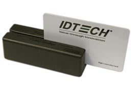 ID TECH MiniMag IDMB Series Magnetic Stripe Reader (MSR) Track 1/2/3 with USB Keyboard Interface (Black)
