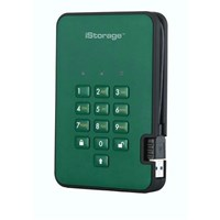 iStorage diskAshur2 2TB Mobile External Solid State Drive in Green