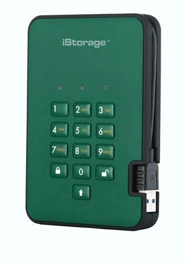 iStorage diskAshur2 (2000GB) Solid State Drive USB 3.1 Encrypted 256-bit (Racing Green)