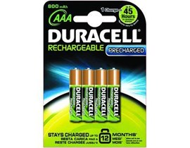 Duracell (AAA) StayCharged Rechargeable Batteries (Pack of 4)
