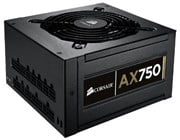 Corsair AX750 Professional Series Gold 750 Watt ATX PS/2 Power Supply Unit (80 PLUS Certified)