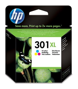 HP 301XL (Yield: 330 Pages) Cyan/Magenta/Yellow Ink Cartridge